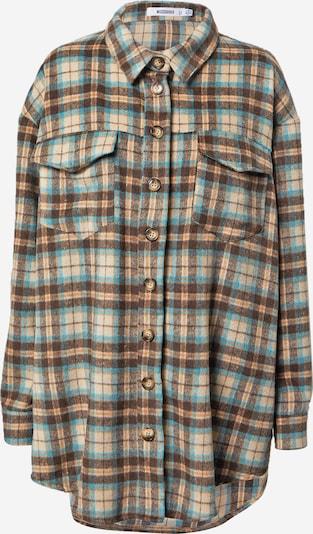 Missguided Bluse in creme / aqua / braun, Produktansicht