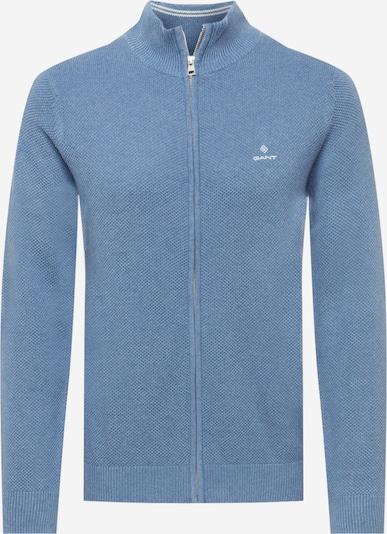 GANT Kardigan u sivkasto plava / bijela, Pregled proizvoda