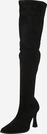 Missguided Botas sobre la rodilla en negro, Vista del producto