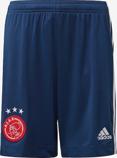 ADIDAS PERFORMANCE Sportbroek ' Ajax Auswärtsshorts ' in de kleur Donkerblauw / Rood: Vooraanzicht
