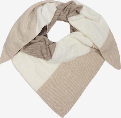 Zwillingsherz Tuch in beige / braun / wollweiß, Produktansicht