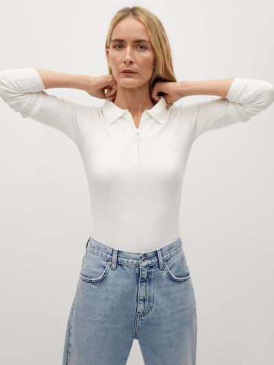 MANGO Пуловер в бяло, Преглед на модела