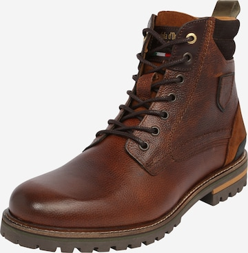 PANTOFOLA D'ORO Lace-Up Boots 'Ponzano' in Brown
