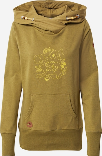 Ragwear Sweat-shirt 'ANGELINA' en kaki / roseau, Vue avec produit