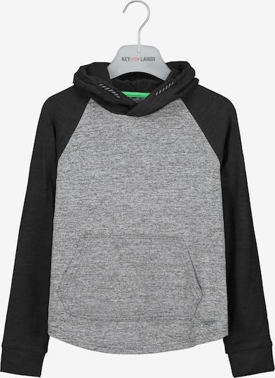 Key Largo Kapuzensweatshirt in schwarz / schwarzmeliert, Produktansicht