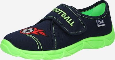 BECK Mājas apavi 'Football' tumši zils / gaiši zaļš / sarkans / melns / balts, Preces skats