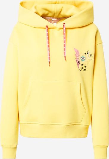 Femi Stories Sweatshirt 'AURENA' in gelb / jade / pink / schwarz / weiß, Produktansicht