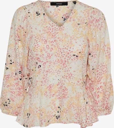 VERO MODA Bluse 'HANNAH' in hellgrau / mischfarben, Produktansicht