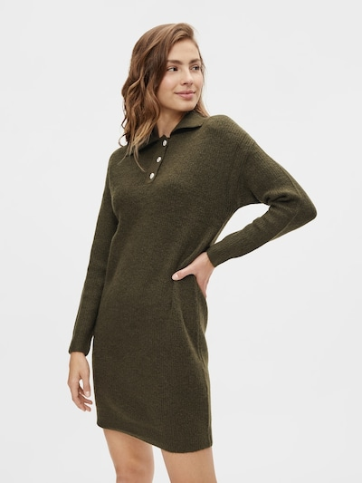 PIECES Knitted dress 'Petra' in Khaki, View model