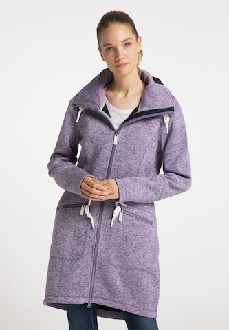 ICEBOUND Knitted Coat in Purple