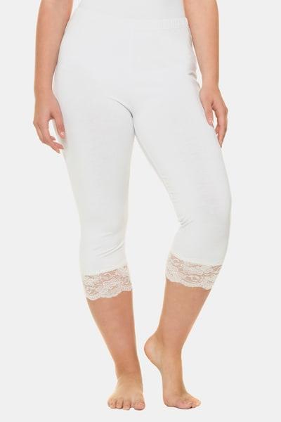 Ulla Popken Pantalon en blanc, Vue avec modèle