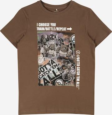 NAME IT Shirt 'POKEMON' in Brown