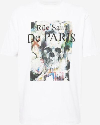 River Island T-Shirt in beige / ocker / basaltgrau / jade / weiß, Produktansicht