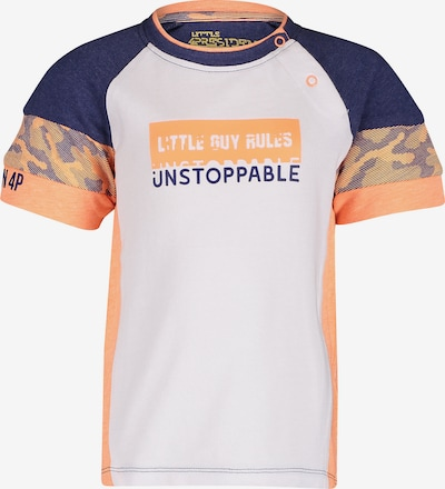 4PRESIDENT Shirt in dunkelblau / orange / weiß, Produktansicht