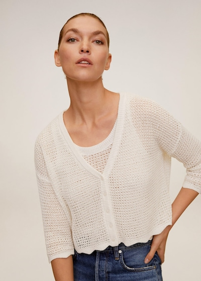 MANGO Strickjacke 'Netty' in nude, Modelansicht