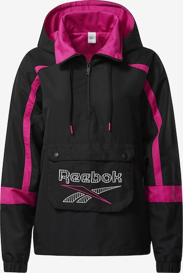 Reebok Classic Anorak in pink / schwarz, Produktansicht