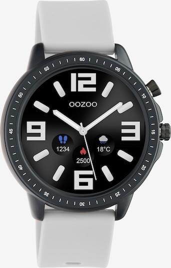 OOZOO Uhr in hellgrau / schwarz, Produktansicht