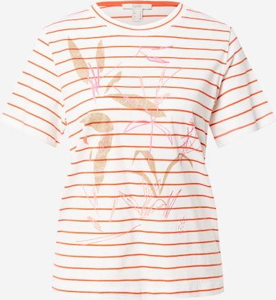 ESPRIT Koszulka w kolorze beżowy / różowy / pomarańczowo-czerwony / białym, Podgląd produktu