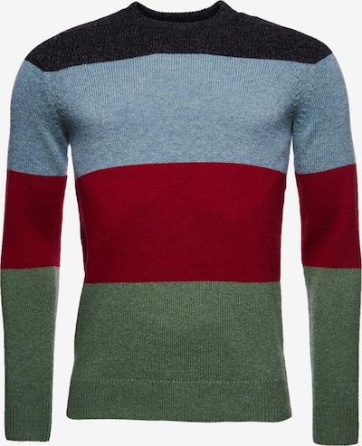 Superdry Pullover in blau / grün / rot, Produktansicht