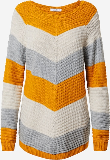 ZABAIONE Pullover 'Fabia' in goldgelb / grau / weiß, Produktansicht