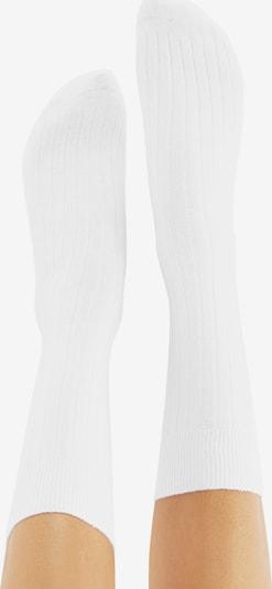 CHEERIO* Socks in White: Rear view