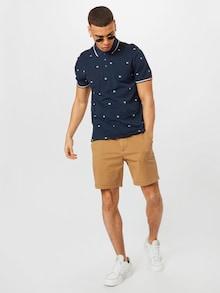 Chino šortky Hollister v khaki / hnědé barvě