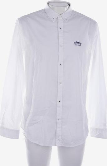 HUGO BOSS Freizeithemd / Shirt / Polohemd langarm in L in weiß, Produktansicht