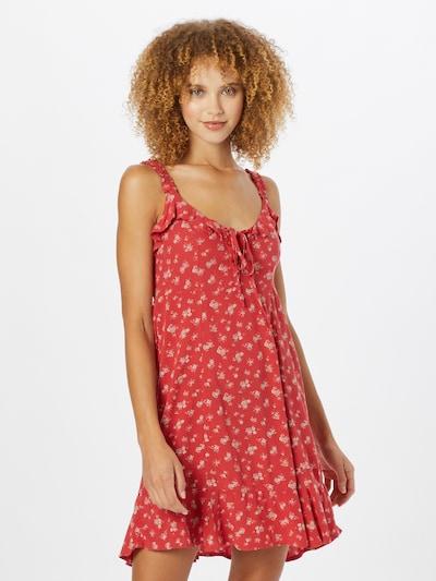 American Eagle Summer Dress in Beige / Light grey / Red, View model