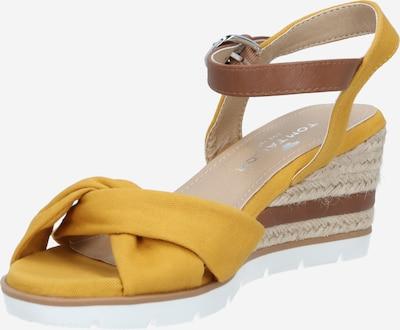 TOM TAILOR Sandale in beige / braun / senf, Produktansicht