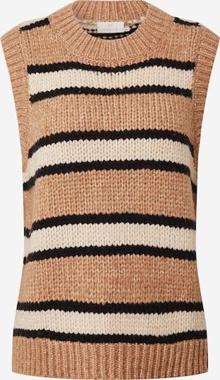 Kaffe Pullover in beige / sand / schwarz, Produktansicht