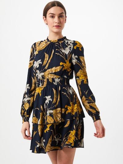 ONLY Kleid 'PALM' in nachtblau / goldgelb / weiß, Modelansicht