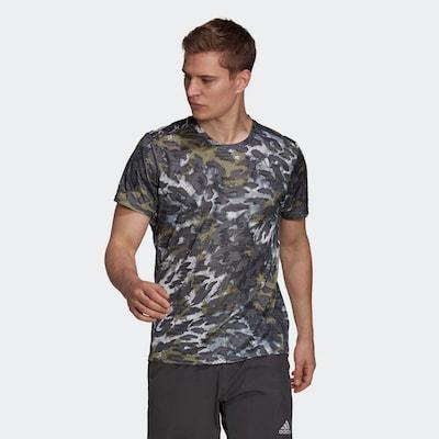 ADIDAS PERFORMANCE T-Shirt 'Fast Graphic Primeblue' in grau / mischfarben: Frontalansicht