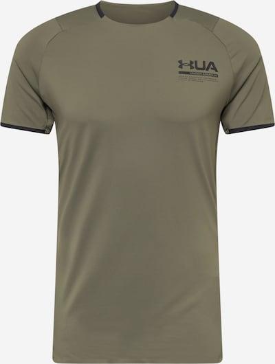 UNDER ARMOUR Functioneel shirt in de kleur Kaki / Zwart, Productweergave