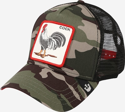 GOORIN Bros. Cap in braun / grau / khaki / rot / weiß, Produktansicht