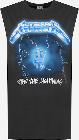AMPLIFIED T-Shirt 'METALLICA - RIDE THE LIGHTNING' en bleu ciel / bleu clair / graphite / blanc, Vue avec produit