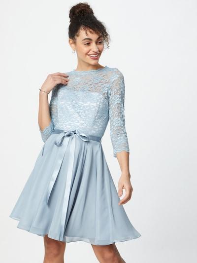 SWING Kokteilové šaty - svetlomodrá: Pohľad spredu