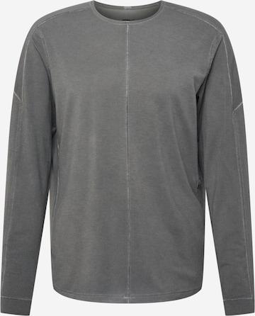 NIKE Спортен блузон с качулка в сиво