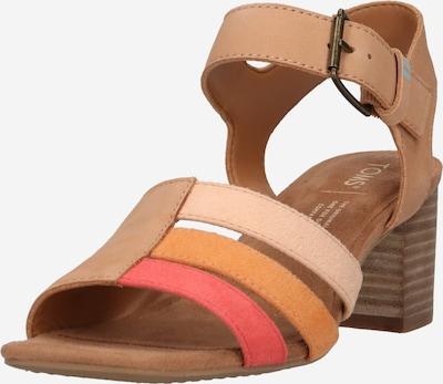 Sandale 'ESTELLA' TOMS pe șampanie / nisipiu / maro coniac / roz pitaya, Vizualizare produs