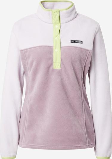 COLUMBIA Sporta džemperis 'Benton Springs', krāsa - neona dzeltens / lillā / balts, Preces skats