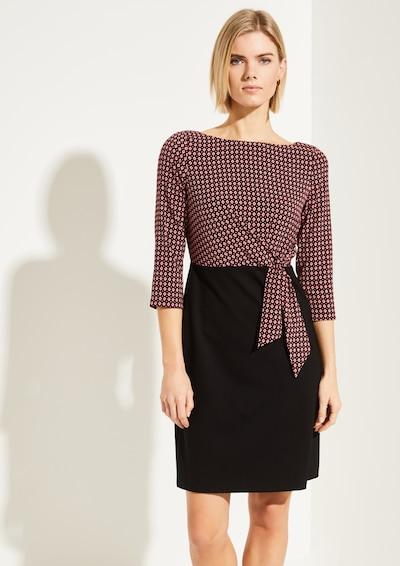 COMMA Businesskleid in dunkelrot / schwarz, Modelansicht