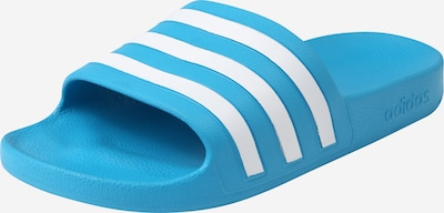 ADIDAS PERFORMANCE Claquettes / Tongs 'Adilette' en bleu clair / blanc, Vue avec produit