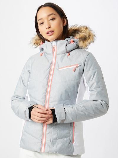 4F Sport-Jacke in graumeliert / weiß: Frontalansicht