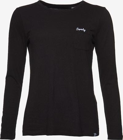 Superdry Shirt 'Essential' in schwarz / weiß, Produktansicht