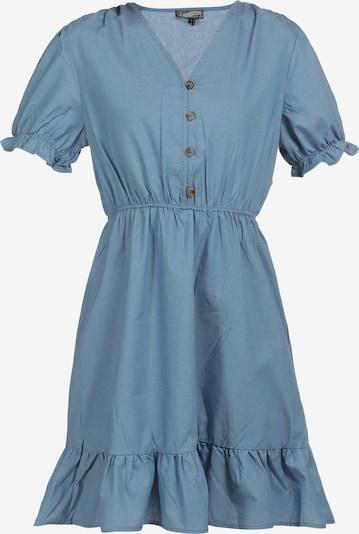 DreiMaster Vintage Robe d'été en bleu fumé, Vue avec produit