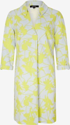 COMMA Robe-chemise en jaune fluo / blanc, Vue avec produit
