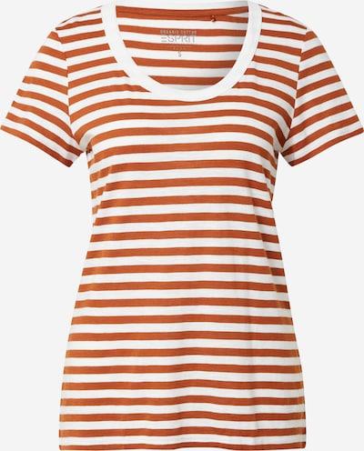 ESPRIT Majica u narančasto crvena / bijela, Pregled proizvoda