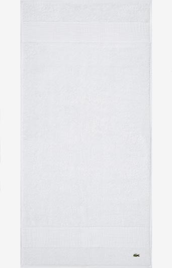 LACOSTE Duschtuch 'LE CROCO' in weiß, Produktansicht