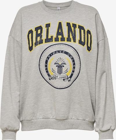ONLY Sweatshirt 'Dreamer' in gelb / grau / graumeliert, Produktansicht