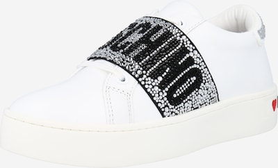 Love Moschino Nizke superge | črna / srebrna / bela barva, Prikaz izdelka