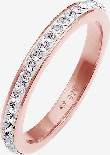 ELLI Ring Bandring, Kristall Ring in rosegold, Produktansicht